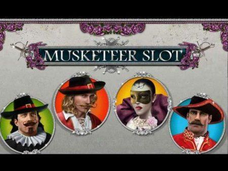 logo slot machine musketeer